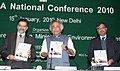Jairam Ramesh releasing a book at the National Conference, 2010 of Committee for the Purpose of Control and Supervision of Experiments on Animals (CPCSEA), in New Delhi on January 15, 2010.jpg