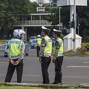 Traffic police - Indonesian traffic police officers