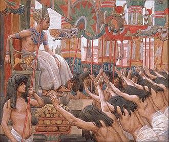 Biblical Egypt - Joseph Dwelleth in Egypt painted by James Jacques Joseph Tissot c. 1900