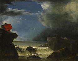 Jan Asselijn: De doorbraak van de Sint Anthonisdijk in Amsterdam