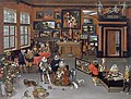 Jan Brueghel the Elder - The Archdukes Albert and Isabella Visiting a Collector's Cabinet - Walters 372010FXD.jpg
