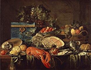 Jan Davidsz de Heem: Natura morta con aragosta.