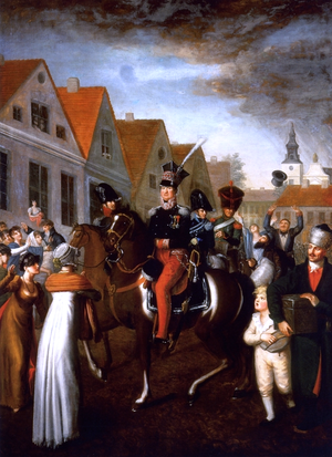 Prussian Partition - Jan Henryk Dabrowski entering Poznań in 1806
