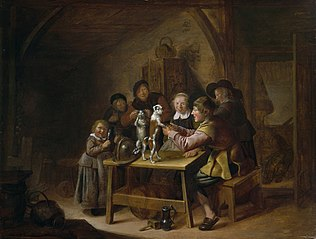 Peasants Teaching a Cat and Dog to Dance
