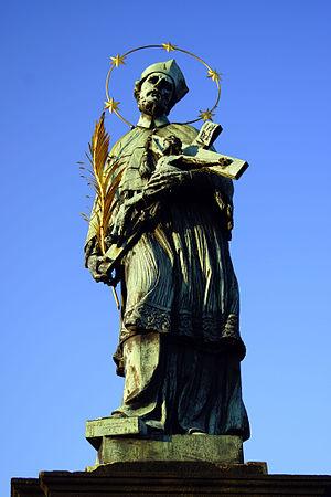 Statue of John of Nepomuk, Charles Bridge - The statue in 2012