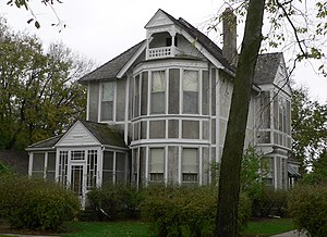 National Register of Historic Places listings in Colfax County, Nebraska - Image: Janacek house from NW 2