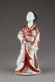 Japansk porslinsfigur från 1800, föreställande hovdam - Hallwylska museet - 96055.tif