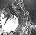 Jarvis Glacier, valley glacier mostly covered in rocks, September 17, 1966 (GLACIERS 5233).jpg