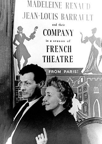 Pierre Boulez - Jean-Louis Barrault and Madeleine Renaud in 1952 (photograph Carl Van Vechten)