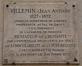 Jean Antoine Villemin plaque - 31 rue Bellechasse, Paris 7.jpg