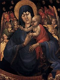 Jean malouel, Virgin and Child with Angels, 1410 circa (Madonna delle farfalle, butterflies madonna).jpg