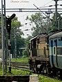Jhansi shed's WDM3A ^16043 departs Lucknow NER (LJN) with Gorakhpur-Bangalore Express in tow - Flickr - Dr. Santulan Mahanta.jpg