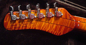 Stevie Ray Vaughan - Jim Hamilton signature on rear of headstock