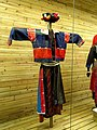 Jingpo woman brocade clothes - Yunnan Nationalities Museum - DSC04286.JPG