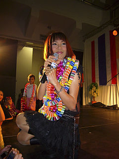 Jintara Poonlarp Thai female singer