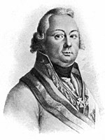Print of a slightly plump and myopic-looking Austrian general