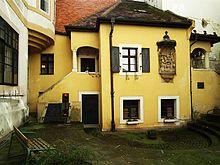 Hummel's birthplace in Klobučnícka St., Bratislava (Source: Wikimedia)