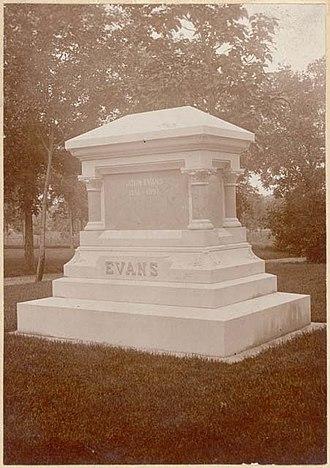 John Evans (governor) - John Evans' grave marker in Denver's Riverside Cemetery