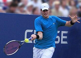 John Isner - Isner's forehand return to Verdasco at the 2009 US Open