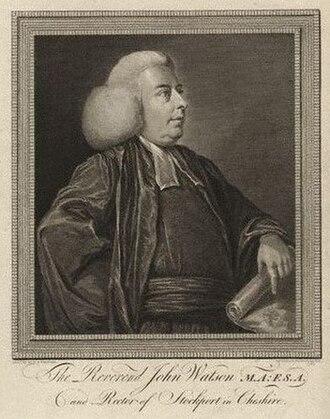 John Watson (antiquary) - John Watson, 1785 engraving by James Basire, after Daniel Stringer