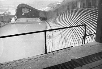 Jordal Amfi (1951) - Spectator seating and the stage in 1952