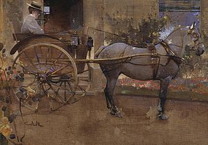 Governess cart - The Governess Cart by Joseph Crawhall