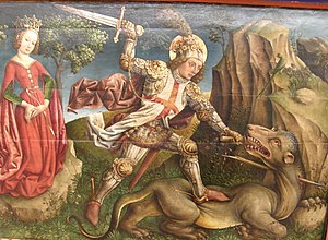 Jost Haller - Saint George slaying the dragon, from the Tempelhof Altarpiece