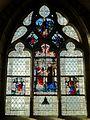 Jouy-le-Moutier (95), église de la Nativité de la Sainte-Vierge, croisillon sud, vitraux.JPG