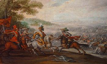 Batalla de Pavía (1525) 350px-Juan_de_la_Corte_Prendimiento_Rey_Francia