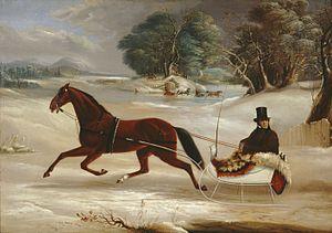 Thomas Kirby Van Zandt - Judge Van Aernum in his Sleigh by Thomas Kirby Van Zandt, 1855