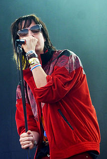 Julian Casablancas lead singer and frontman for The Strokes