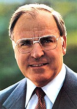 Portait of Helmut Kohl on a CDU election poster