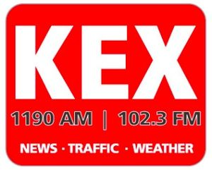 KEX (AM) - former logo while simulcasting on 102.3