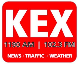 KEX (AM) - former logo while simulcasting on 102.3 FM