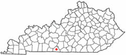 Location of Scottsville, Kentucky