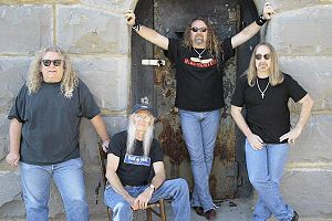 The Kentucky Headhunters - photograph by Brad U. Wheeler (L-R: Richard Young, Fred Young, Doug Phelps, Greg Martin)