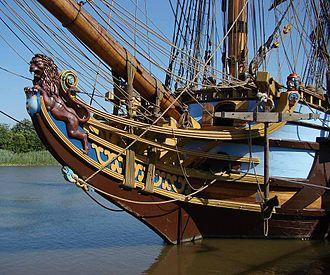 Kalmar Nyckel - Image: Kalamar Nycel bow figurehead