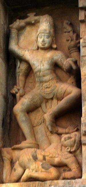 Kalantaka - Kalantaka dancing on Yama, Gangaikonda Cholapuram Temple.
