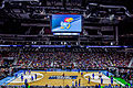 Kansas Jayhawks Open Practice at the 2016 March Madness Opening Rounds (25748751301).jpg