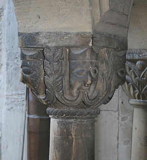 Comacine masters - Capital of a pillar in the transept of the church of Königslutter