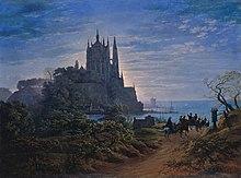 Gotische Kirche auf einem Felsen am Meer (Source: Wikimedia)