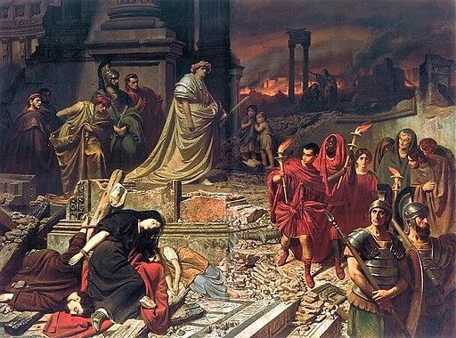 Karl von Piloty Nero Róma égését szemléli