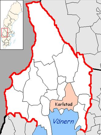 Karlstad Municipality - Image: Karlstad Municipality in Värmland County