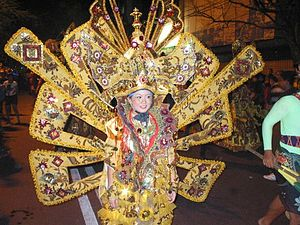 Solo Batik Carnival - The fourth Solo Batik Carnival was the first to be held in the evening.