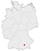 Karte muenchen in deutschland