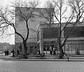 Kecskemét 1970, Katona József tér - Csányi János körút sarok, iskola. Fortepan 28875.jpg