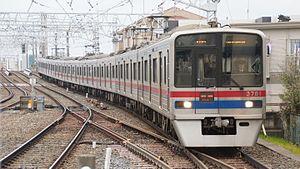 Keisei 3700 series - 8-car set 3788 in March 2012