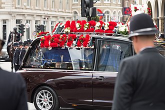 2017 Westminster attack - The hearse carrying PC Keith Palmer en route to Southwark Cathedral