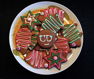 Christmas cookie sweet pastries that are eaten during the Advent season