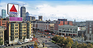 Kenmore Square - Kenmore Square in Boston. The Citgo sign is the main landmark of the square.